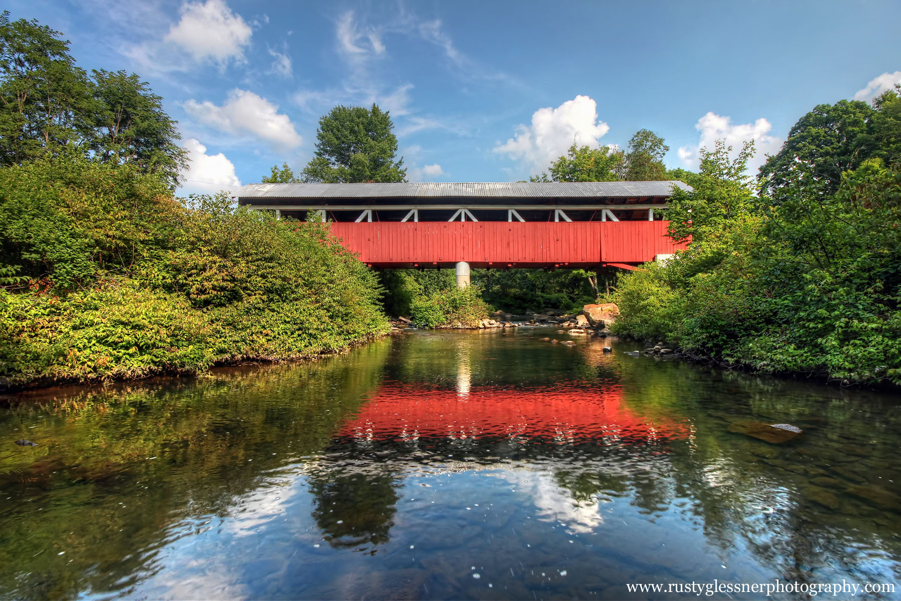 Glessner Covered Bridge, Somerset County, Pennsylvania.