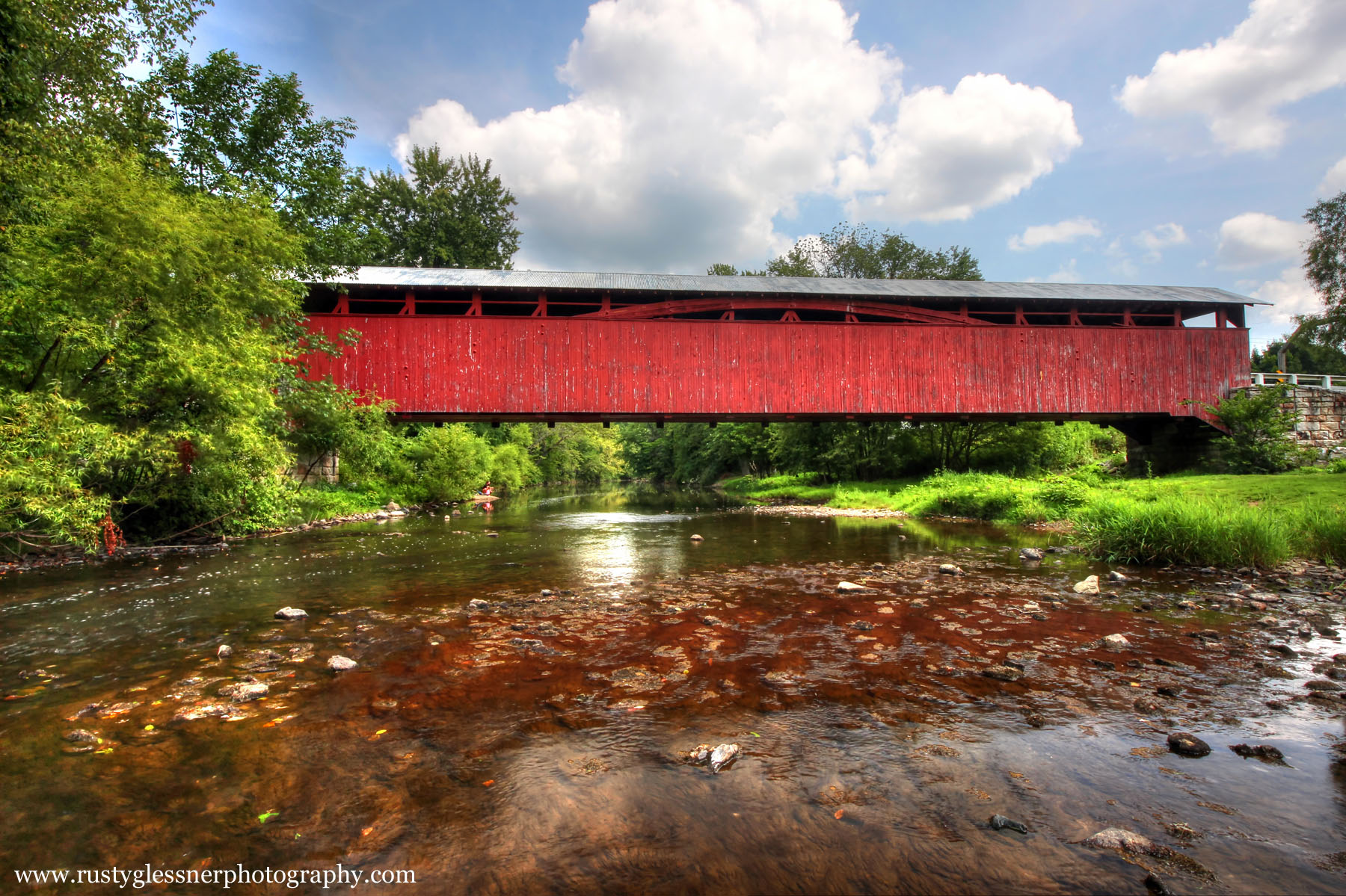 Herline Covered Bridge, located near Manns Choice, Bedford County, Pennsylvania.