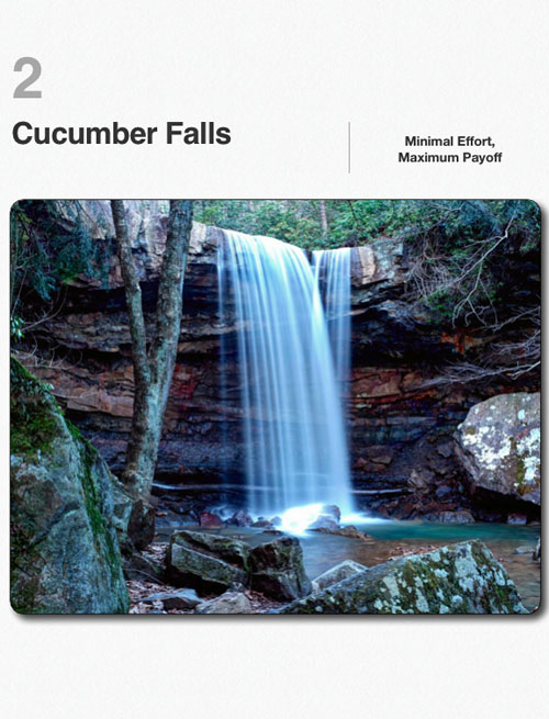 The Waterfalls of Ohiopyle State Park, Cucumber Falls sample chapter