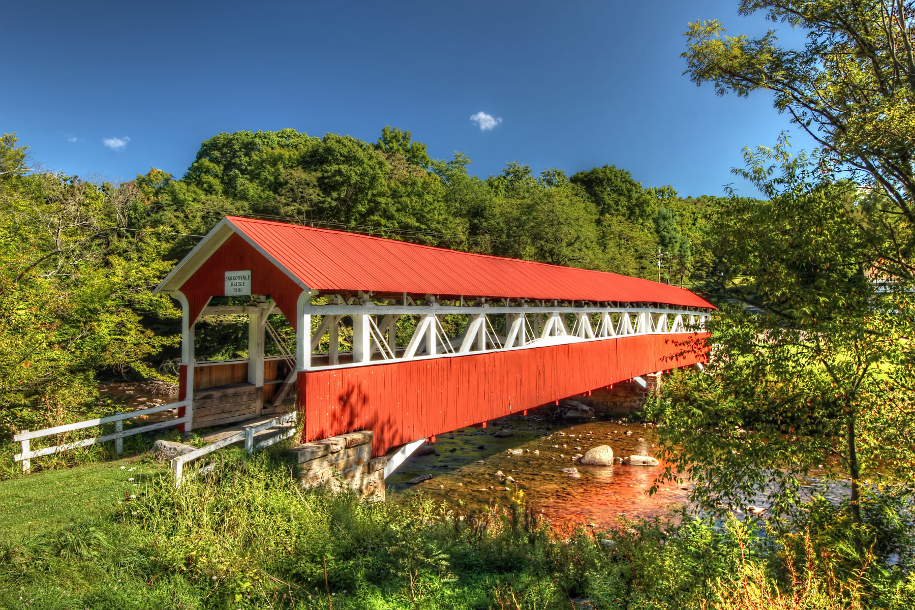 Barronvale Covered Bridge, Somerset County, PA. Photographed by Rusty Glessner 9.7.2014.