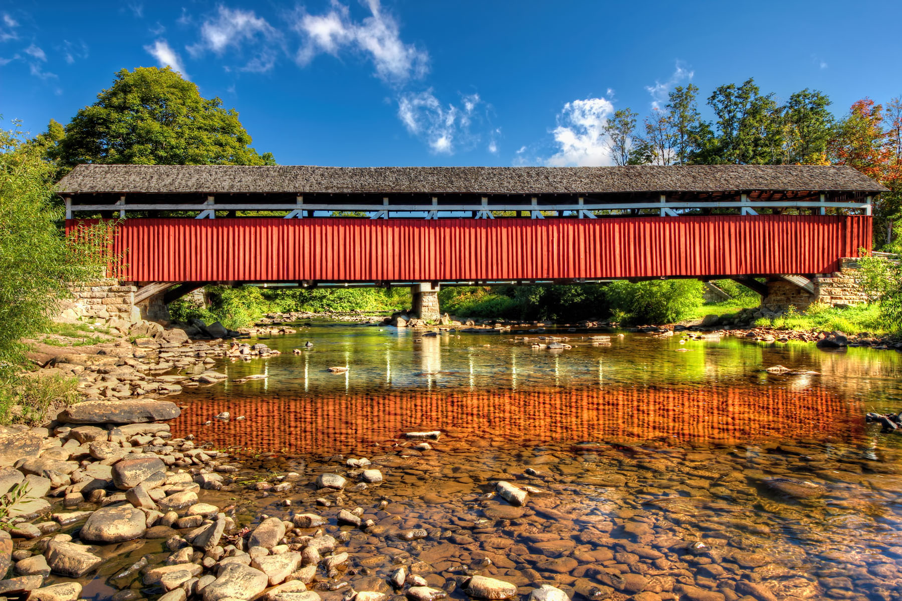 Kings Covered Bridge, Somerset County, PA. Photo taken by Pennsylvania landscape photographer Rusty Glessner on 9.7.2014.