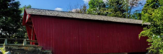 Visiting Logan Mills Covered Bridge