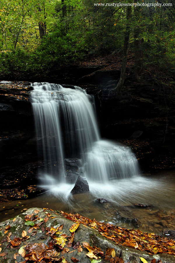 Autumn morning at Lower Jonathan Run Falls - Ohiopyle State Park.
