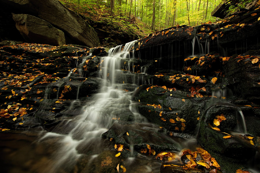 Autumn view of Miners Run Falls #3 (Lower Tier) - McIntyre Wild Area, Lycoming County, PA.