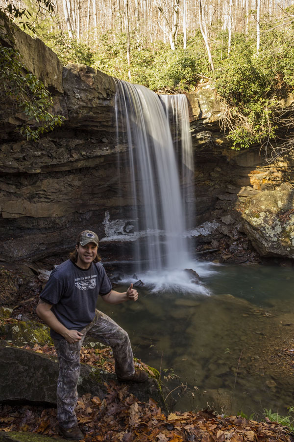 Self-portrait, Cucumber Falls, Ohiopyle State Park, Fayette County, PA.
