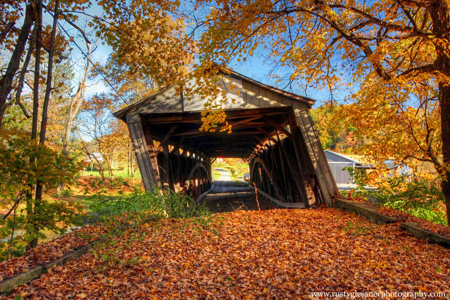 Dimmsville Covered Bridge (front view), Juniata County, PA.