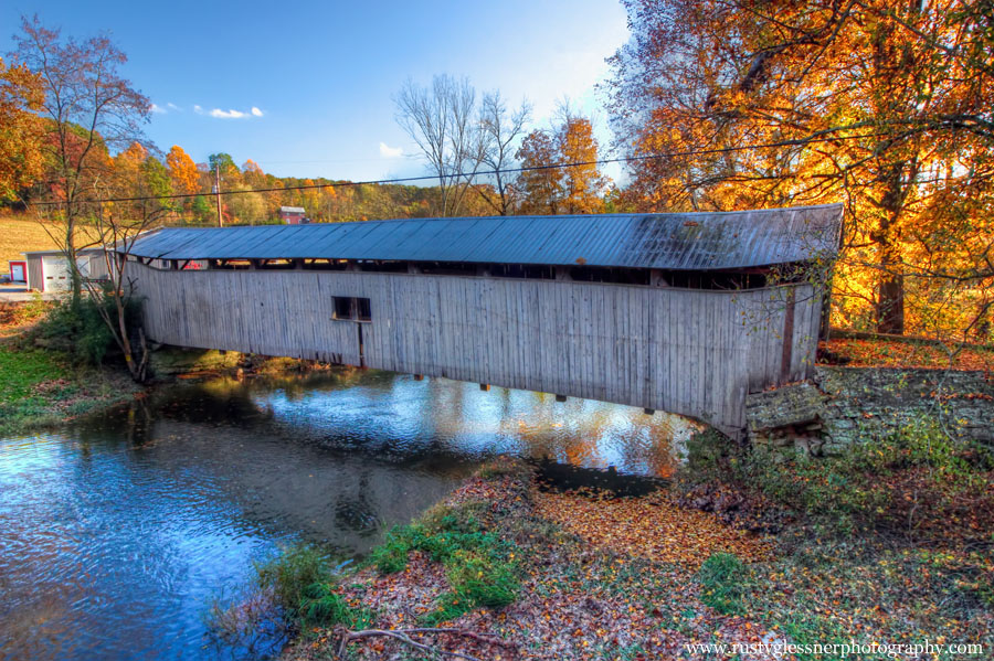 Dimmsville Covered Bridge (side view), Juniata County, PA.