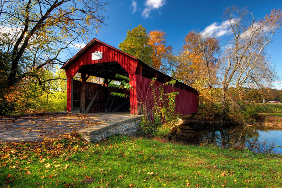 Dreese Covered Bridge (front view), Snyder County, PA.
