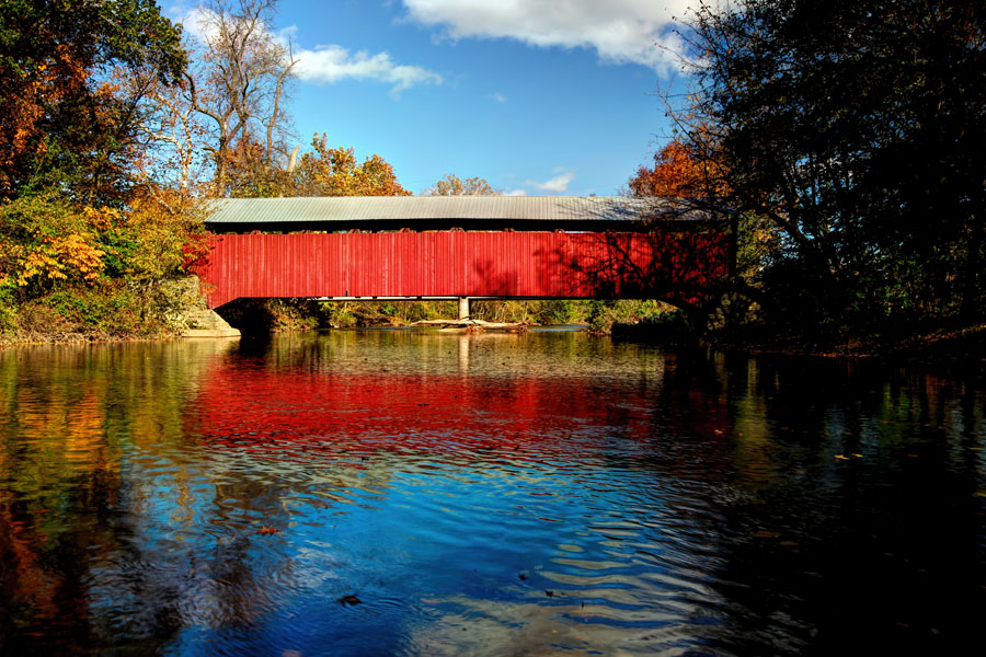 Dreese Covered Bridge (river view), Snyder County, PA.