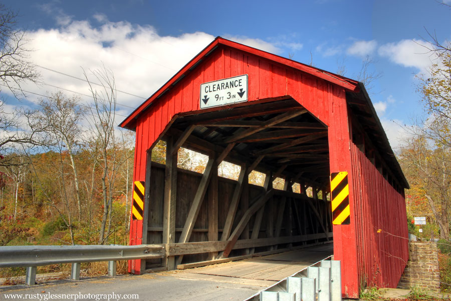 North Oriental Covered Bridge (front view), Snyder County, PA.