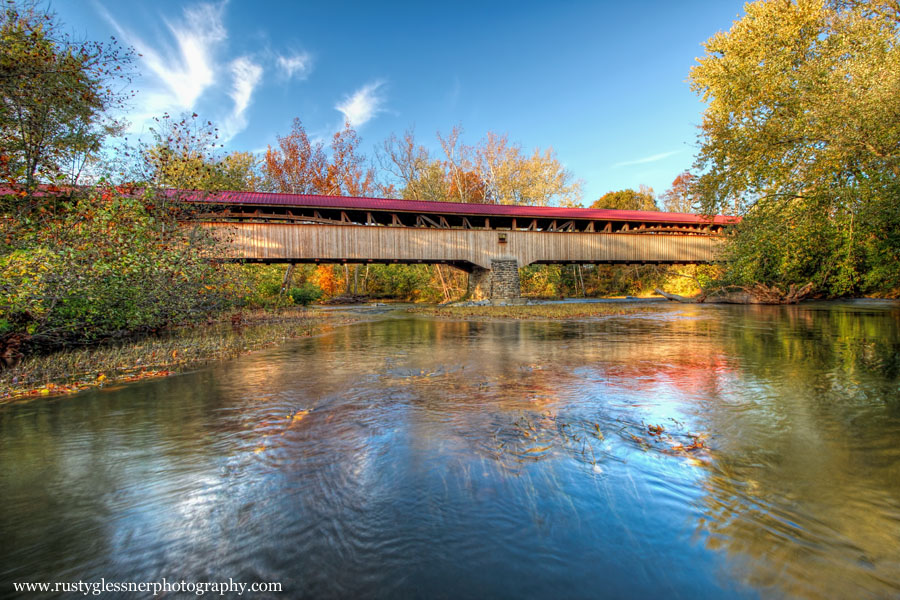 Academia/Pomeroy Covered Bridge (river vew), Juniata County, PA