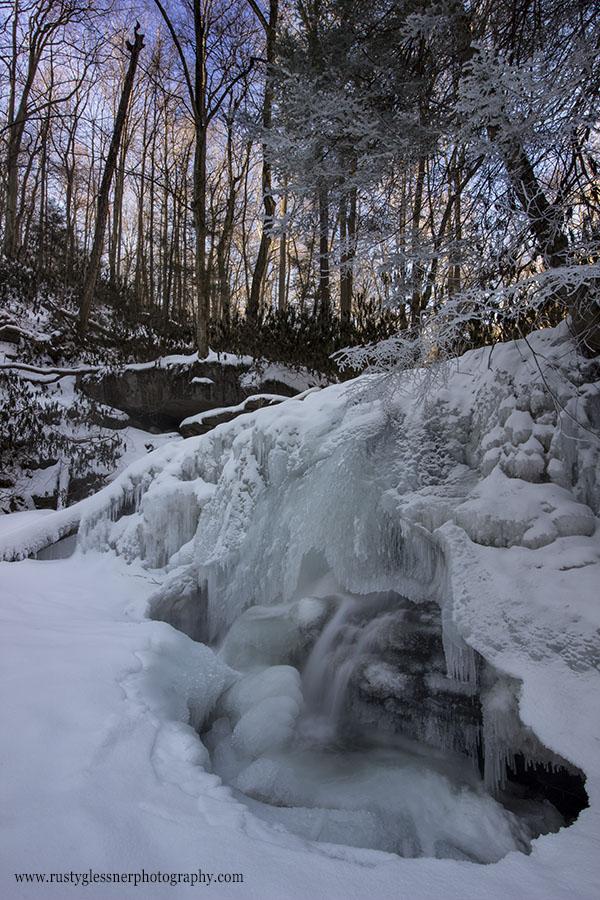 Frozen Lower Jonathan Run Falls (vertical), Ohiopyle State Park, 2.28.2015.