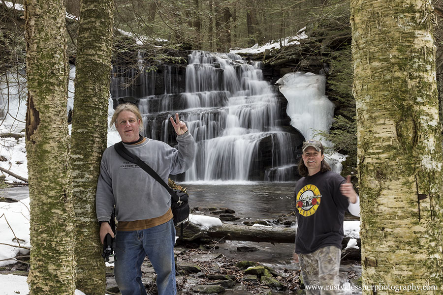 Steve Rubano and Rusty Glessner at Rosecrans Falls.