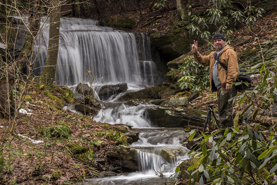 Steve Rubano at Kyler Fork Falls, Centre County - 4.8.2015