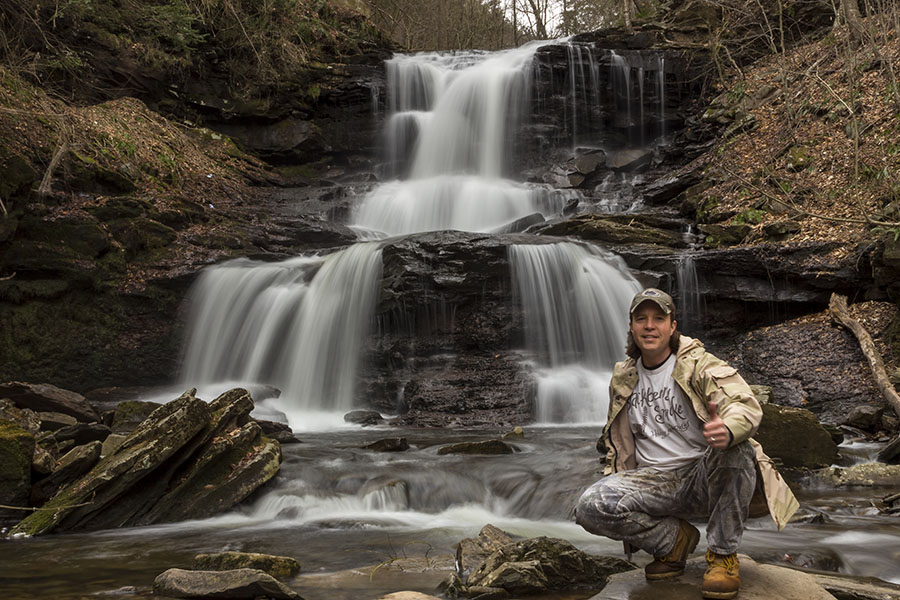 Tuscarora Falls selfie, Ricketts Glen State Park