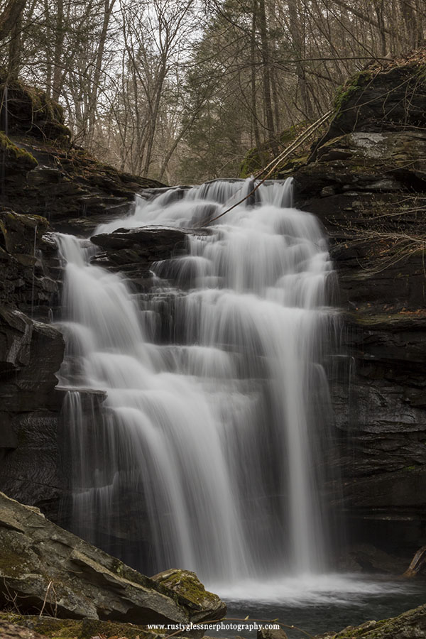 Big Falls (vertical composition), Herberly Run, State Game Lands 13, Sullivan County, PA
