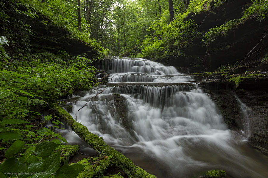 Larger unnamed waterfall along Little Slate Run in the Pine Creek Gorge Natural Area