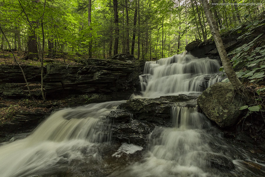Unnamed waterfall along Pigeon Run, SGL 13, Sullivan County