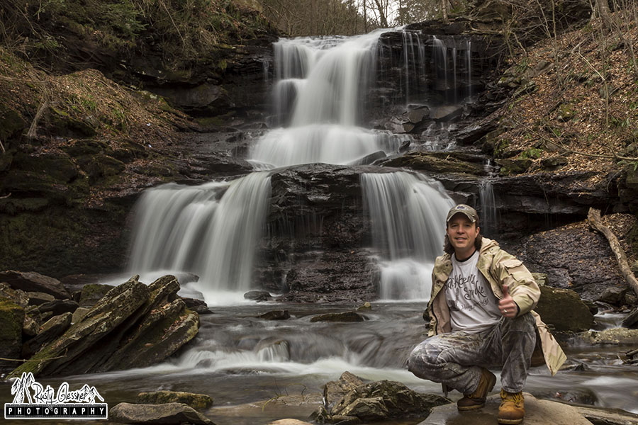 Selfie at Tuscarora Falls, Sullivan County, PA