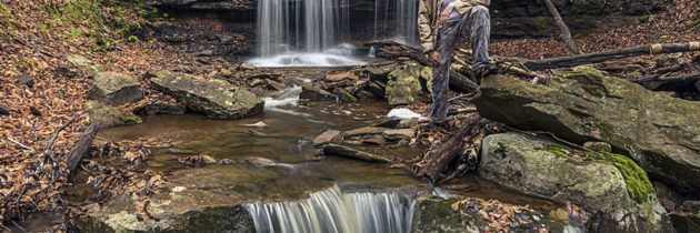 Visiting the Waterfalls along Dutters Run in Sullivan County, PA