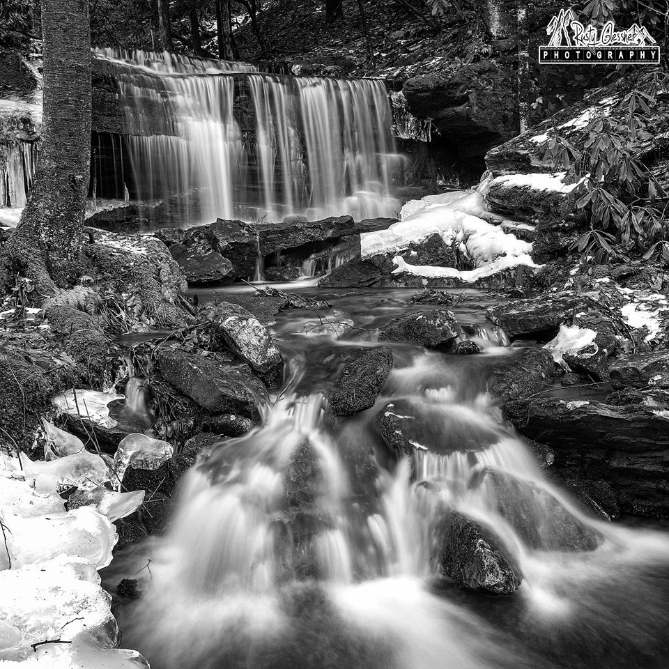 Kyler Fork Falls, Sproul State Forest, 1.12.2017