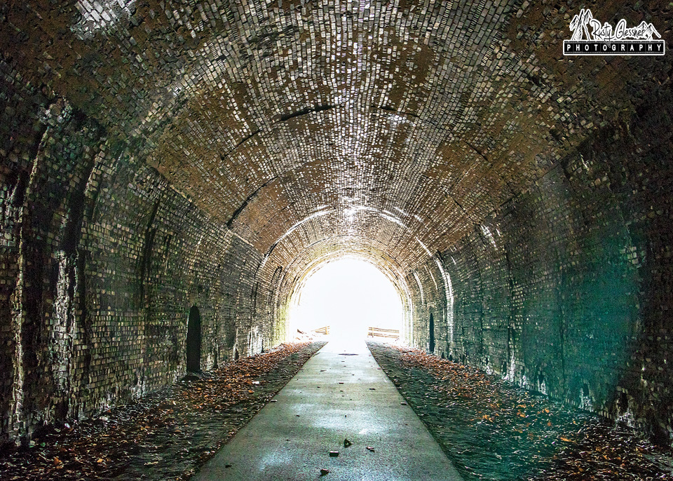Tunnel along the Allegheny River Trail in Venango County, PA.