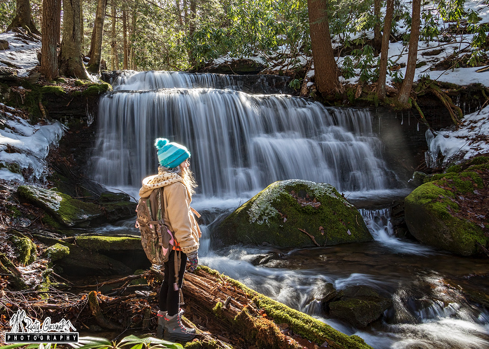 Hailee at Yost Run Falls, Sproul State Forest, Centre County, PA - 2.18.2017