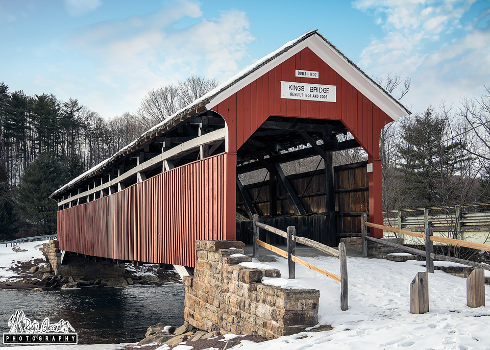 Kings Covered Bridge in Somerset County, PA  - February 2017