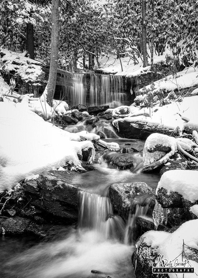 Kyler Fork Falls, Sproul State Forest, Centre County,PA - February 2017