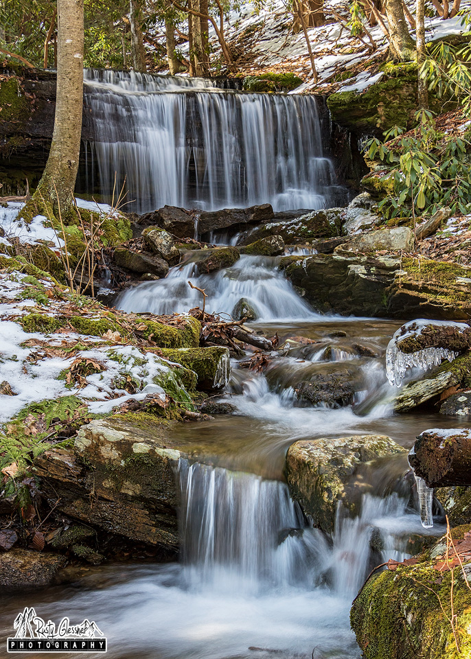 Kyler Fork Falls, Sproul State Forest, Centre County, PA - 2.18.2017