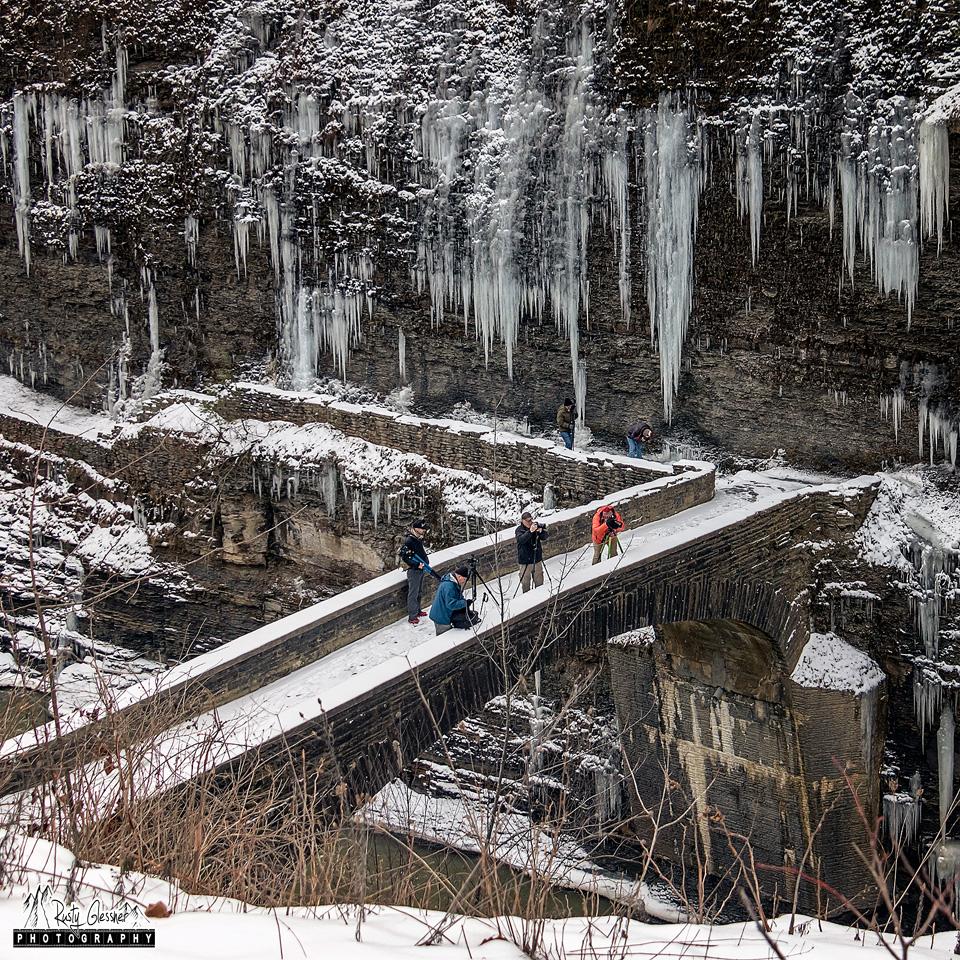 Photographers on the Stone Bridge, Letchworth State Park, Castile, NY.