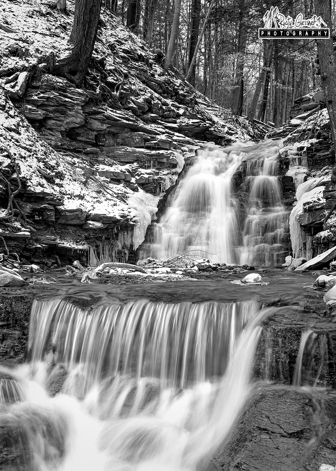 Small waterfall on tributary to the Genesee River - Letchworth State Park, Castile, NY