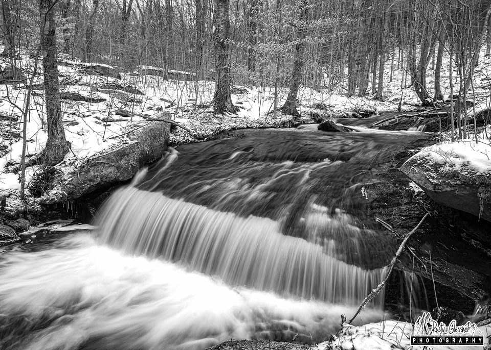 Cascades along Meeker Run, Quehanna Wild Area, Clearfield County, PA - 2.16.2017