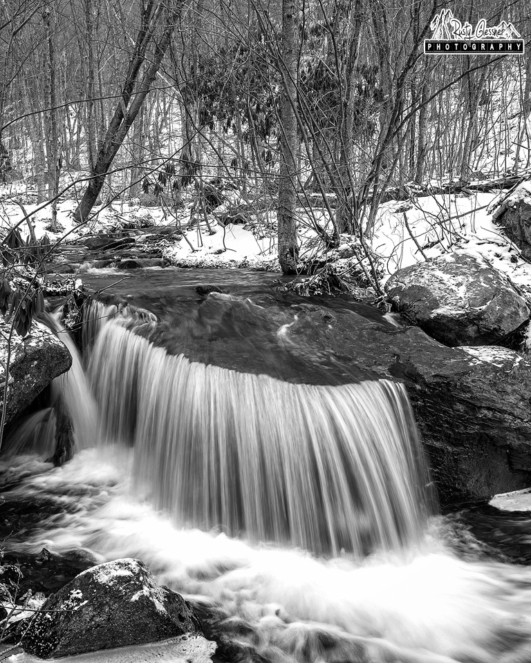 Small waterfall along Meeker Run, Quehanna Wild Area, Clearfield County, PA - 2.16.2017