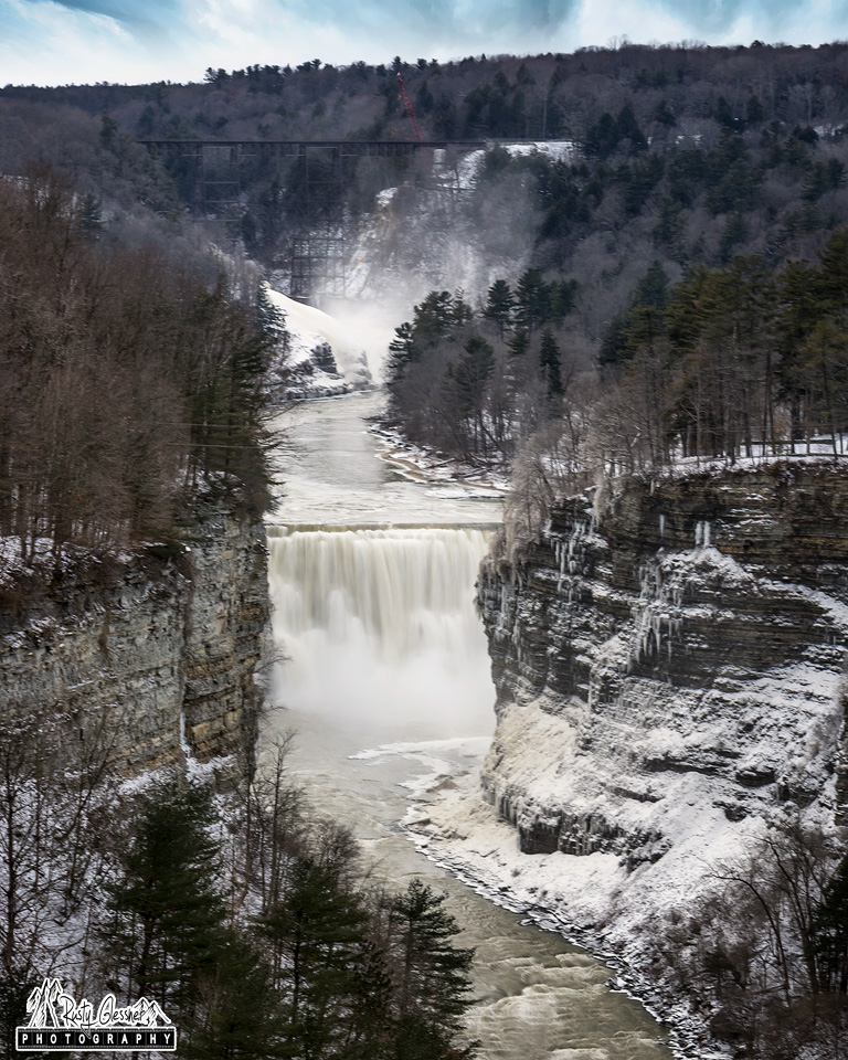 View from Inspiration Point at Letchworth State Park - Castile, NY