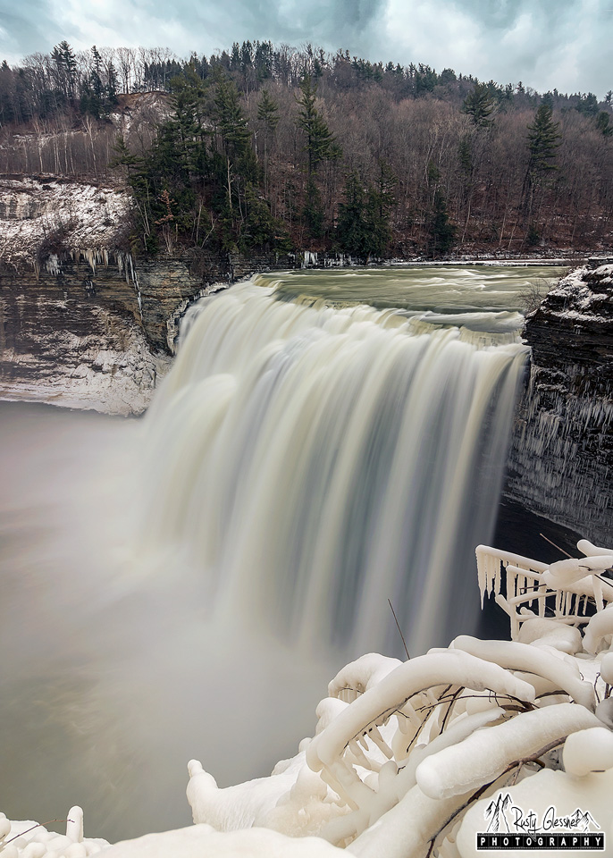 Middle Falls on the Genesee River - Letchworth State Park, Castile, NY