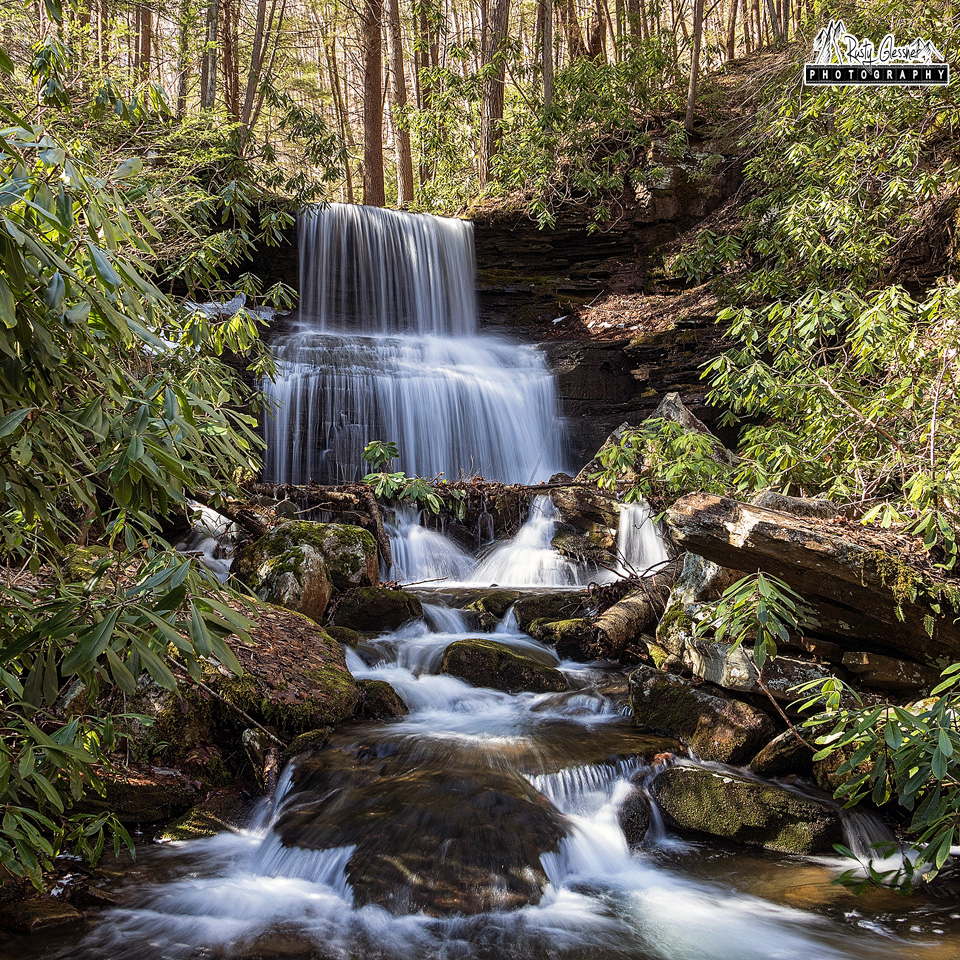 Round Island Run Falls, Sproul State Forest, Clinton County, PA - February 2017