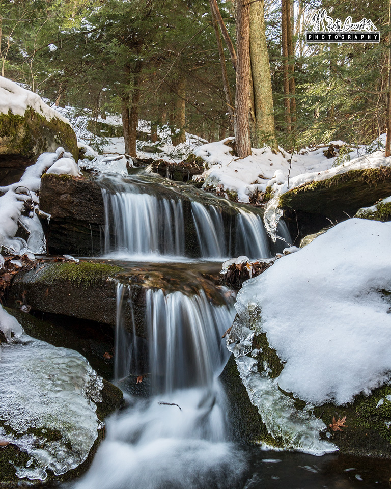 Small waterfall along the Sevinsky Draft, Quehanna Wild Area, Cameron County