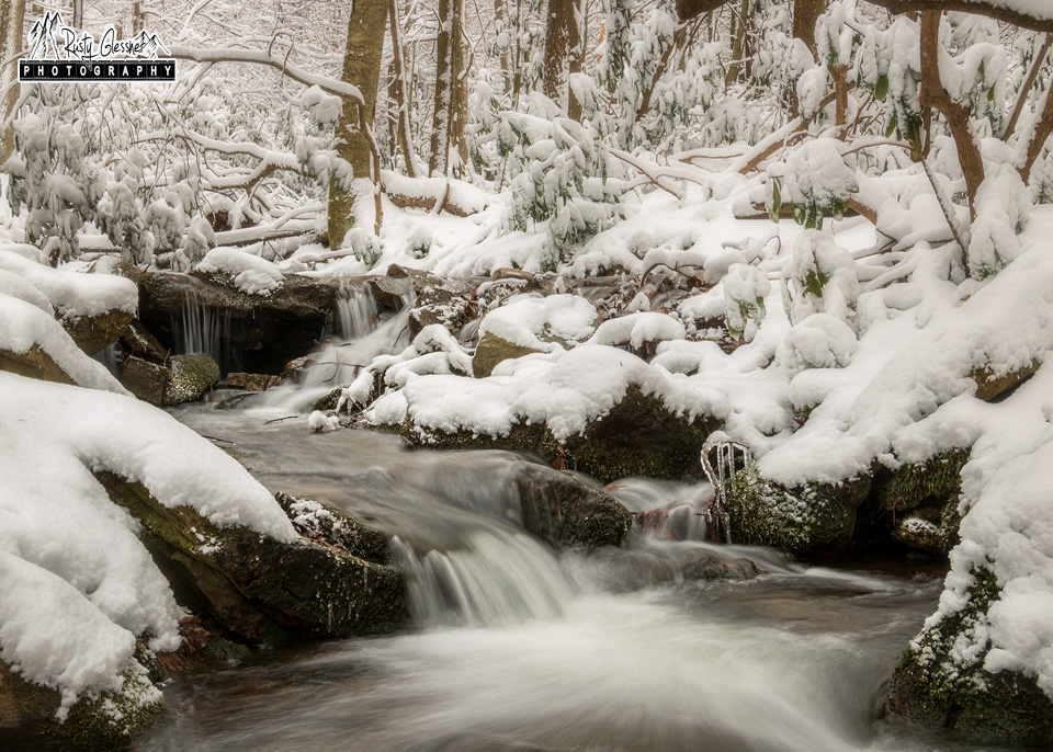 Snow at Roaring Run - Shingletown Gap, Rothrock State Forest