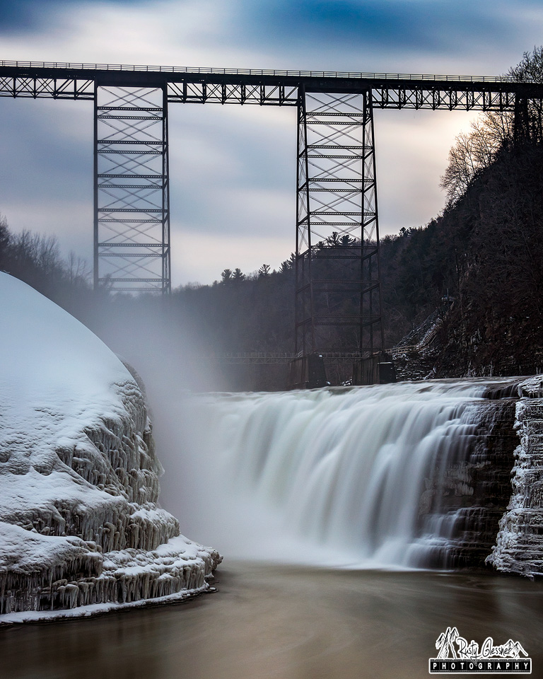 Portage Viaduct and Upper Falls - Letchworth State Park, Castile, NY