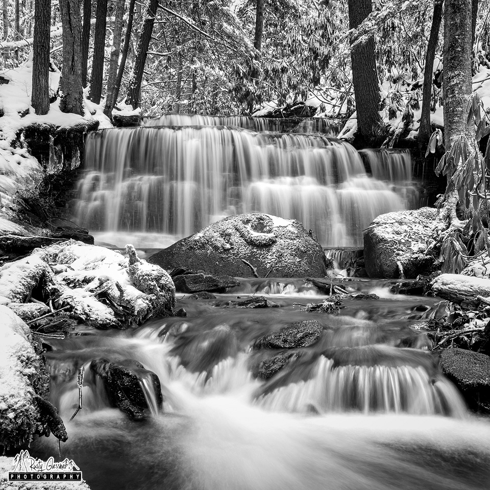 Yost Run Falls, Sproul State Forest, Centre County, PA - February 2017