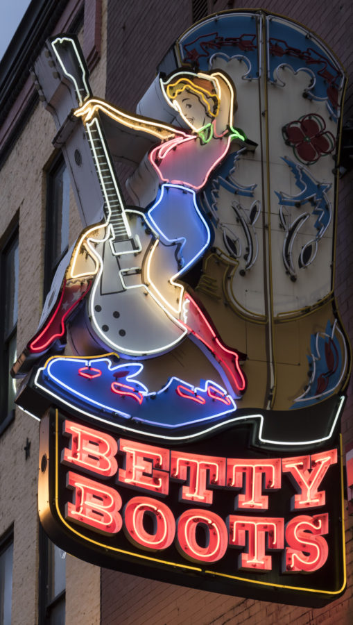 Betty Boots Neon Sign - Nashville, TN