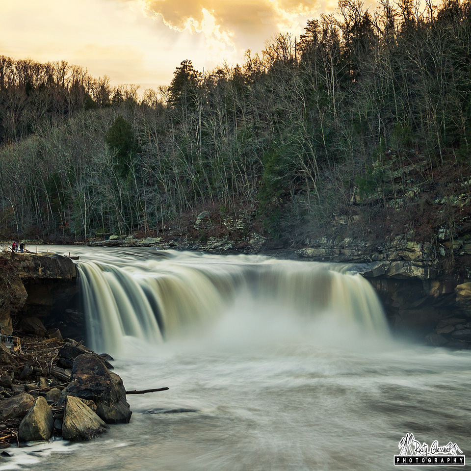 Cumberland Falls at Sunset - Cumberland Falls State Park - Corbin, KY - March 2017