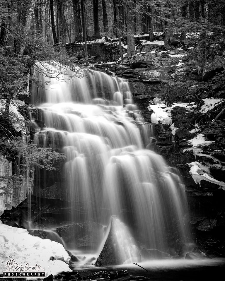 Dutchman Falls, Loyalsock State Forest, Sullivan County, PA - 3.26.2017