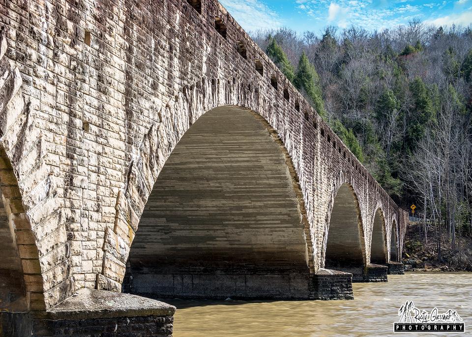 Gatliff Stone Arch-Bridge - Cumberland Falls State Park - Corbin, KY - March 2017