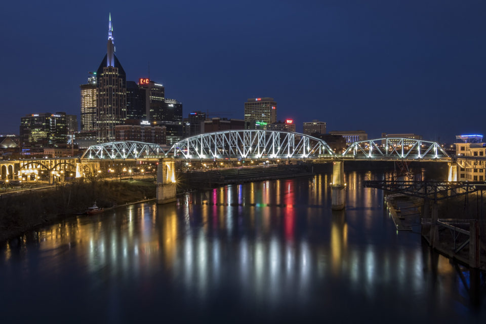 Nashville Skyline at Dusk - March 2017
