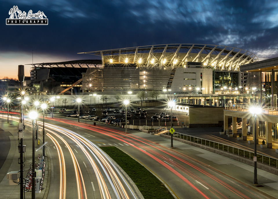 Paul Brown Stadium at Sunset (long exposure) - Cincinnati, OH - March 2017