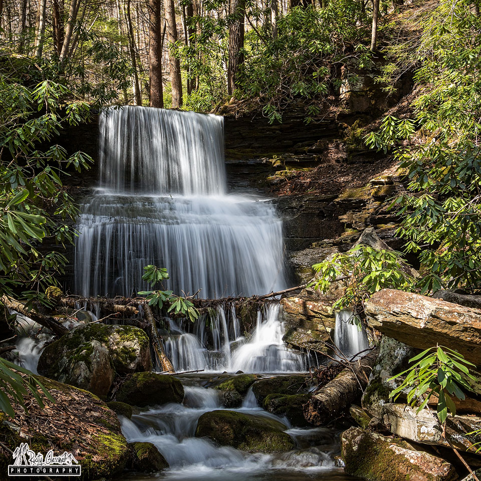 Round Island Run Falls, Sproul State Forest, Clinton County, PA - 3.29.2017