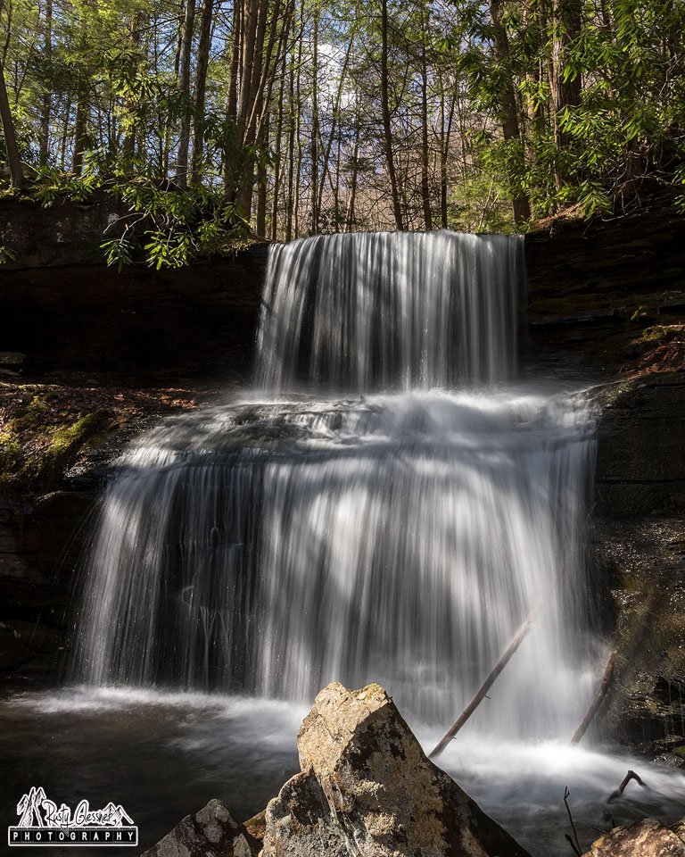 Close-up at Round Island Run Falls, Sproul State Forest, Clinton County, PA - 3.29.2017