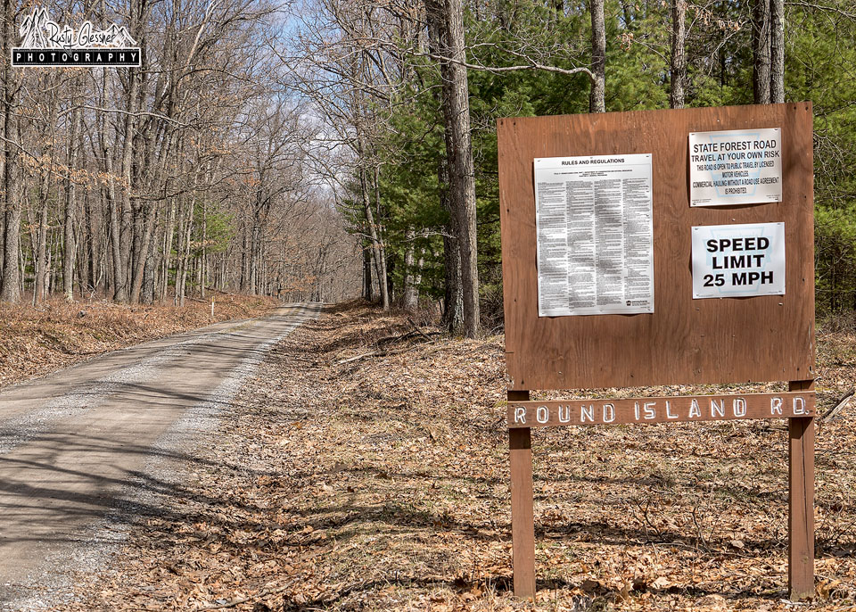 Round Island Road, Sproul State Forest, Clinton County, PA - 3.29.2017